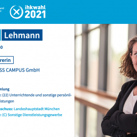 IHK Kandidatur von Kathrin Lehmann
